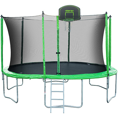 Best Trampoline Brands Merax 14-Feet Round Trampoline with Safety Enclosure