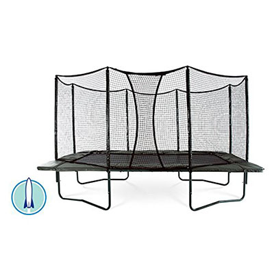Best Trampolines for Adults AlleyOOP PowerBounce 10'x17' Trampoline with Enclosure