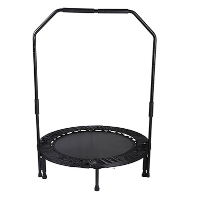 """Best Mini Trampolines for Exercise Sunny Health & Fitness 40"""" Foldable Trampoline with Bar"""