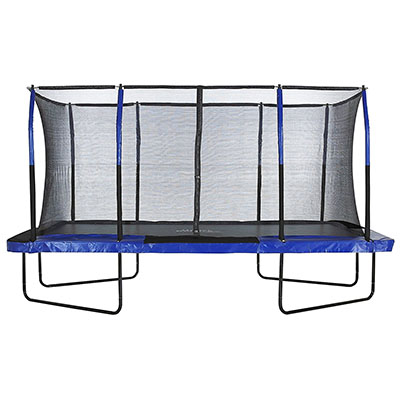 Best Trampolines for Adults Upper Bounce Easy Assemble Spacious Rectangular Trampoline with Fiber Flex Enclosure Feature