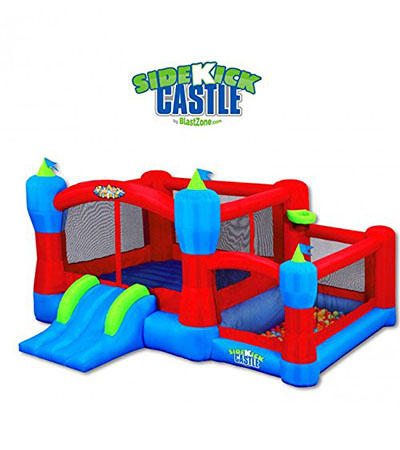 Best Bounce Houses Blast Zone Sidekick Bounce House, Ball Pit, Slide, and Hoop
