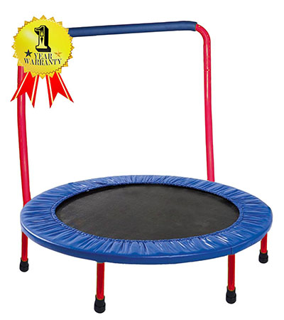 Best Toddler Trampolines with Handle GYMENIST Safe KIDS TRAMPOLINE Portable & Foldable