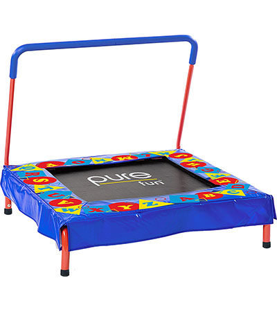 Best Toddler Trampolines with Handle Pure Fun Kids Preschool Jumper