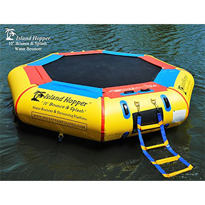 Best Inflatable Water Trampolines Island Hopper 10' Bounce N Splash