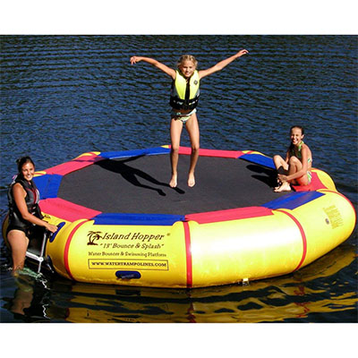 Best Inflatable Water Trampolines Island Hopper 13' Bounce N Splash