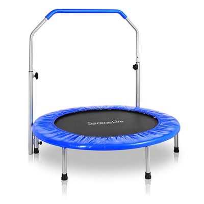 Best Mini Trampolines for Adults SereneLife Portable & Foldable Trampoline