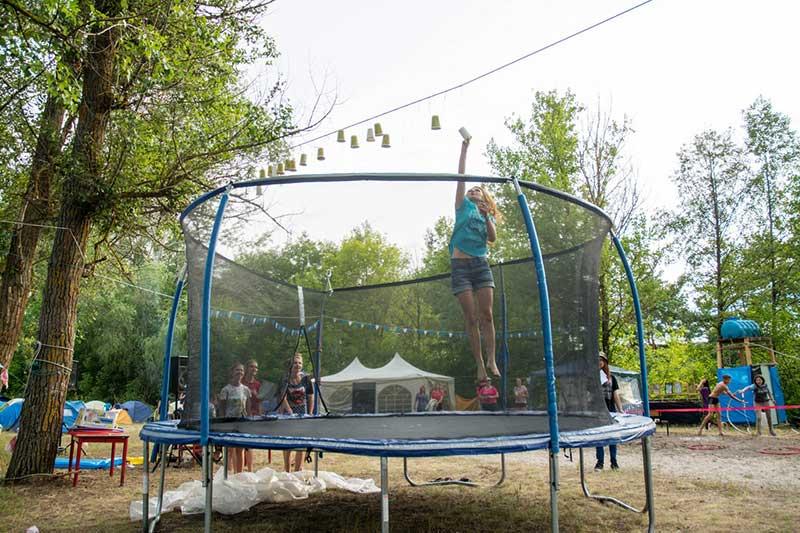 girl in the trampoline