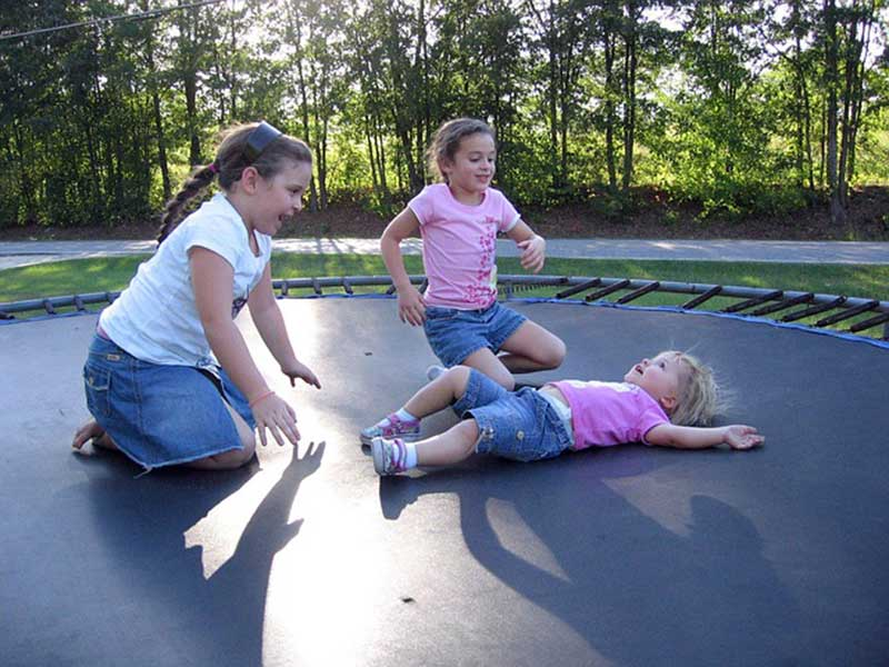 kids in the trampoline